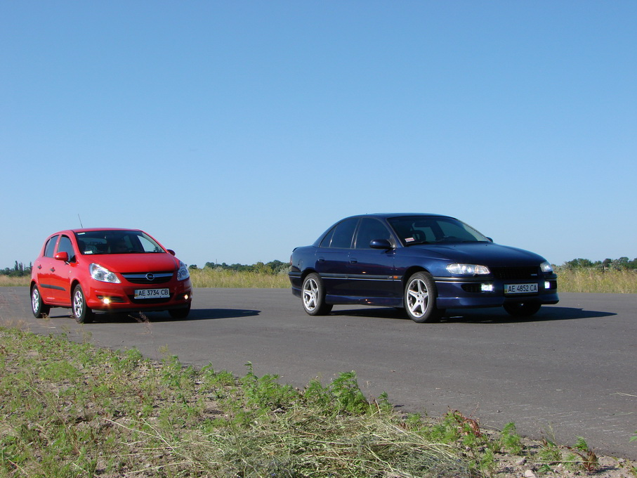 Opel Corsa D and Omega