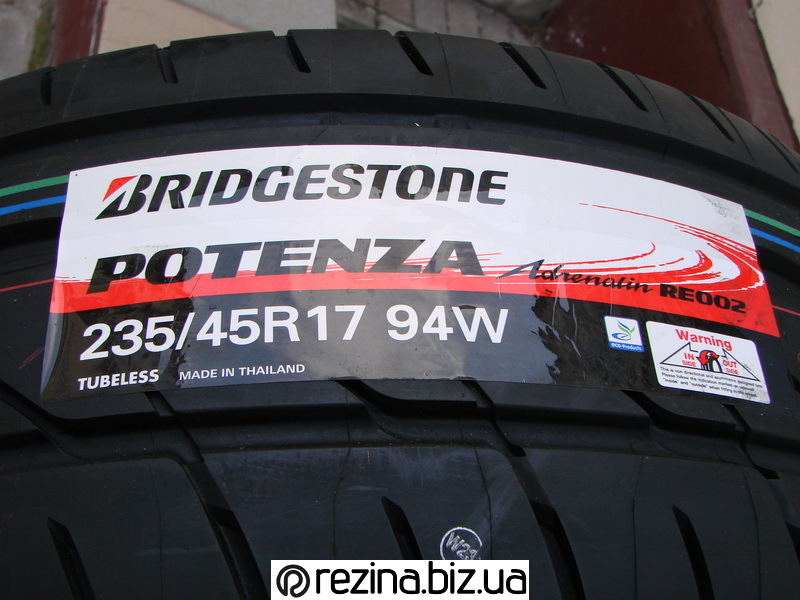 Летние шины Bridgestone Potenza RE002 Adrenalin страна производитель